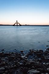Bon Secours (Jean-Adrien Morandeau) Tags: sunset pose de soleil brittany long exposure coucher bretagne diving saintmalo piscine longue plongeoir