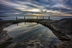 Late Arrival (Crouchy69) Tags: ocean sea sky seascape beach water pool clouds sunrise landscape dawn coast movement rocks long exposure sydney australia coogee rowe ivo