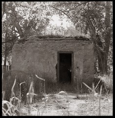 Bank of Fort Bidwell (efo) Tags: california bw abandoned film bank hasselblad vault surprisevalley ftbidwell