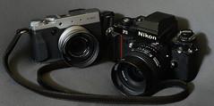 Fuji X30 & Nikon F3HP (cnmark) Tags: camera slr leather modern 35mm vintage silver point nikon shoot fuji professional strap fujifilm f2 x30 f3hp allrightsreserved