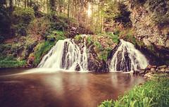 Dess Falls (Iain Brooks) Tags: trees sunset panorama water forest sunrise river landscape scotland waterfall highlands nikon long exposure aberdeenshire scottish falls aberdeen sunburst iain 20mm starburst brooks dess d610 18g iainbphoto