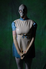 Alice in Wasteland 3 (MissCassandra) Tags: blue white mask cosplay gas gloves latex aliceinwasteland