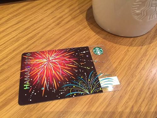 Starbucks Card HANABI 2016