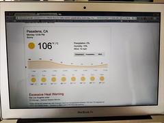 106 (Thad Zajdowicz) Tags: weather forecast heat temperature pasadena california zajdowicz cellphone photoshopexpress computer laptop screen display