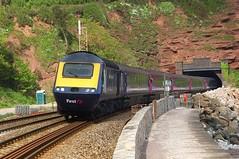 Out Of Parsons Tunnel (crashcalloway) Tags: train seawall devon railways firstgreatwestern hst teignmouth gwr dawlish greatwesternrailway highspeedtrain class43 intercity125 fgw southwestengland parsonstunnel