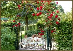Wir sind wieder da ................ (Kindergartenkinder) Tags: dolls himstedt annette ilce6000 sony essen park gruga kindergartenkinder blume garten tivi annemoni sanrike milina outdoor