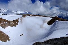 Untitled (43) (FR4GIL3) Tags: sky snow france men nature montagne alone pentax ciel neige nuages valloire froid couleur marche homme k5 roche escalade seul