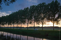 Sunset, Holland, (Kaag) (FotoSyb) Tags: trees sunset summer sky holland tree tourism water train evening ambience zuidholland pentaxk1 sybvis fotosyb