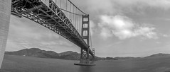 Golden Gate Bridge from Fort Point (leshapiro) Tags: goldengate panorama blackandwhite film