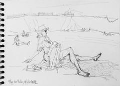 Ile d'Yeu, plage des Vieilles (Croctoo) Tags: croctoo croctoofr croquis crayon plage yeu