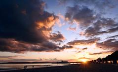 Bournemouth Beach (Humphrey Hippo) Tags: uk sunset sea england sky seascape beach water clouds canon pier tokina dorset gb dslr bournemouth canon1000d topazadjust tokinaatxprodxaf1116mm