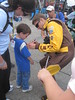 David Ragan signing autographs for NASCAR Dreams kids