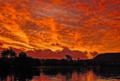 Sunrise on the Ala Wai II (jcc55883) Tags: sky reflection clouds sunrise hawaii nikon waikiki oahu diamondhead sihouette alawai d40 alawaicanal nikond40 kapahuluavenue alawaiboulevard