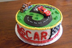 Cars cake by Michelle