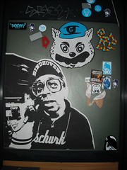 Poster and stickers combo @ Eindhoven (Frankhuizen Photography) Tags: streetart netherlands poster sticker paste wheat stickers nederland eindhoven gato posters mao rockcity ream lukedaduke lempke hmx schurk andalltha psvrwa gatothecat aapnootmes