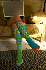 Sexy Socks! (Matt Champlin) Tags: woman sunlight house sexy love feet home socks pc nice colorful afternoon technology legs laptop relaxing wife youngwoman sexylegs longlegs sexysocks womanusinglaptop womansittingoncouch womanonlaptop