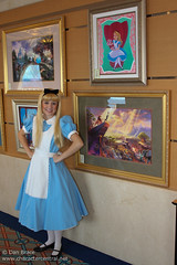 Alice poses with her picture
