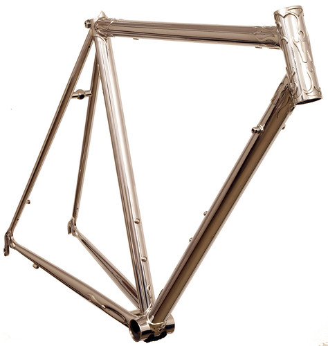 <p>Front View of Flame Lug Stainless Steel Waterford Frame.  62412</p>