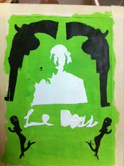 David: Conceptual Self-portrait screen-print (THINKGlobalSchool) Tags: art thailand student identity screenprinting davidt