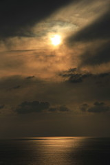 one of god's infinite masterpeices (Fares Al-876ANI) Tags: sea sky sun reflection clouds brio sunrays lightrays