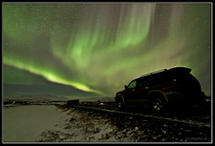 Aurora storm (Frijfur M.) Tags: road winter snow mountains car aurora northernlights wow1 wow2 canon50d mitsubishipajerosport tokina116 mygearandme mygearandmepremium mygearandmebronze mygearandmesilver mygearandmegold mygearandmeplatinum mygearandmediamond pipexcellence