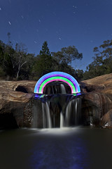 Another Rainbow! (night photographer) Tags: light moon night creek painting photography waterfall rainbow long exposure australia victoria falls full woolshed beechworth