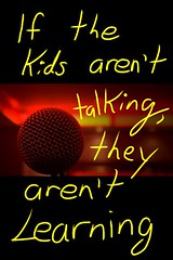 """Educational Postcard:   """"Learning comes from talking."""" (Ken Whytock) Tags: students education teacher learning talking"""