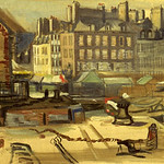 "<b>Untitled (City Scene at the Harbor)</b><br/> Frans Wildenhain ""Untitled (City Scene at the Harbor)"" Oil, n.d LFAC # 775<a href=""http://farm8.static.flickr.com/7188/6852375513_9070de61c9_o.jpg"" title=""High res"">∝</a>"