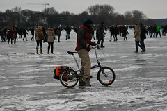 Icy bike (Vahancho) Tags: winter ice germany frozen hamburg alster elbe