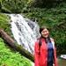 Joyce and waterfall