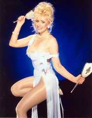 Rhonda Shear (jimanddawn68) Tags: tights rhonda blonde heels gown milf pantyhose shinny shear