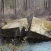 Railroad bridge ruins