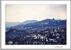 Under the snow in watercolor (Jambo Jambo) Tags: italy panorama snow mountains montagne watercolor landscape nikon italia tuscany neve toscana grosseto maremma montelaterone monteamiata acquarello arcidosso d5000 jambojambo
