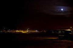 Moon over Lauttasaari (Throwing Dices Photography) Tags: ocean sea moon ice night frozen helsinki lauttasaari