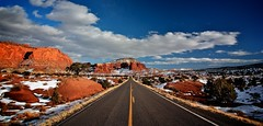 Capitol reef #4 (tony.mignot) Tags: road winter usa snow clouds landscape utah cloudy sunny roadtrip capitolreef capitolreefnationalpark