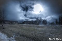 Misty Field (CJsarp) Tags: mist fog hilton canon5d footballfield akershus hdr 1740 ullensaker klfta nearoslo klftahallenbarnehage