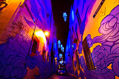 Street Art (SkyWalker108) Tags: street longexposure nightphotography shadow streetart lightpainting art lamp car wall night dark painting graffiti alley chinatown sydney australia 365 haymarket skywalker day116 project365 skywalker108