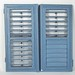 282. 19th Century Southern Blue Painted Shutters