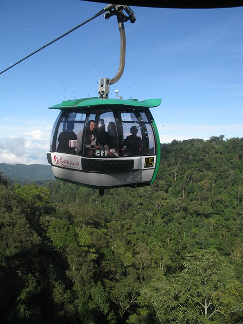 Cable Car -called gondola in malaysian Genting Highlands