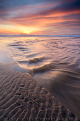 San Gregorio Sunset (Jim Patterson Photography) Tags: california travel sunset sea beach nature creek reflections landscape outdoors photography coast shoreline scenic coastal shore ripples sangregorio sanmateocounty statebeach jimpattersonphotography jimpattersonphotographycom seatosummitworkshops seatosummitworkshopscom