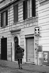 go home (RedArt photographer) Tags: people bw woman roma contrast trastevere gohome 123bw redartphoto