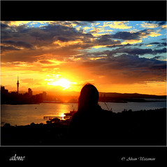 alone (Ahsan. (Busy..)) Tags: she life light sunset sky cloud love me nature girl clouds dark skyscape golden evening focus alone loneliness colours shadows heart happiness lie lonely betray eka ridoy canon7d bhalobasha 1755usm ekaki mygearandme
