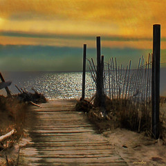 .one of my favorite places. (xandram) Tags: beach water photoshop sand walk hometown ct textures longbeach longislandsound alwaysexc
