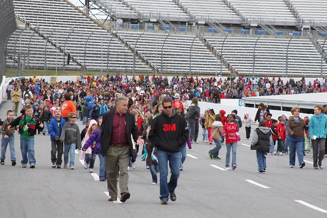Greg Biffle Taking a Walk Around the Track