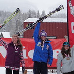 Rossland Miele Cup, 26.02.2012 - SL top  3 overall and J1 women