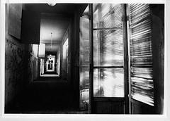 c 2 (Marcello fotocelluloide Zappaterra) Tags: olympus bn hp5 rodinal ilford bianconero luce finestre abbandono stanze baritata