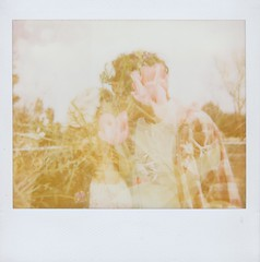 (Anna Hollow) Tags: polaroid kiss tulips doubleexposure sweethearts annahatzakis annahollow chrisbidwell christianalexanderbidwell