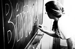 J is for Joy (susivinh) Tags: birthday chalk classroom board joy danielle teacher felicidad profesora cumpleaños blackboard clase pizarra profesor tiza focus52 auxiliardeconversación