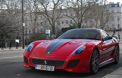 599 GTO. (Richard T Smith) Tags: red london t grey nikon smith ferrari richard gto supercar supercars d60 599 belgravia v99 v99gto