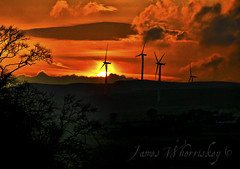Wind And Fire ! (James Whorriskey (Delbert Jackson)) Tags: uk ireland sunset sun catchycolors fire photo photographer wind picture windmills londonderry northernireland derry ulster impressionsexpressions colorphotoaward aroundus jameswhorriskey delbertjackson jameswhoriskey jameswhorriskeyphotography curryfree